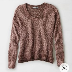 DON'T ASK WHY Mauve Crewneck Knitted Sweater